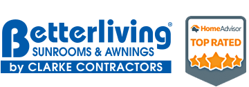 Betterliving Sunrooms and Awnings by Clarke Contractors logo