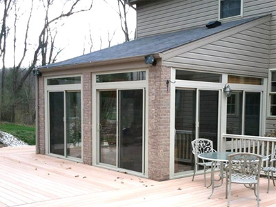 Newly Installed Enclosed Porch