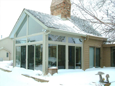 Enclosed Porch in Winter