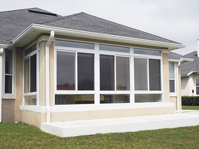 Enclosed Porch White Frame